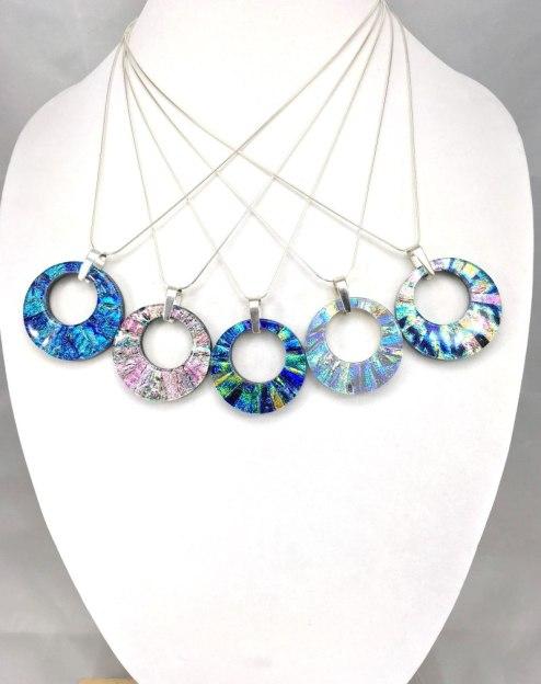mosaic donut pendants