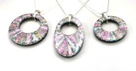 mosaic donut pendant