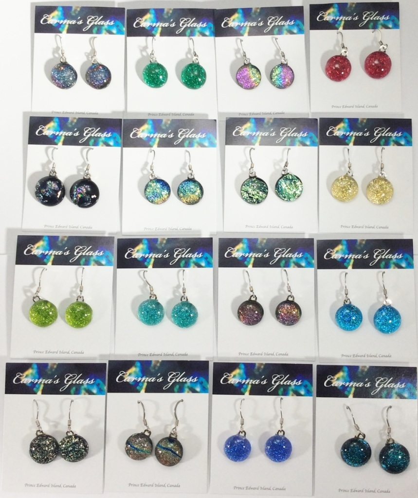 Round Dangle Earrings