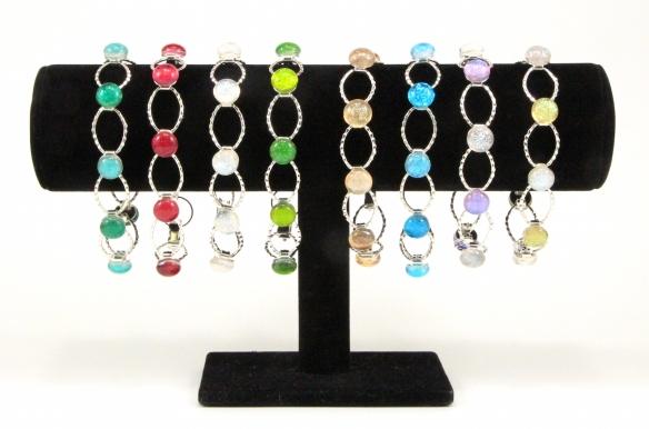 Dichroic Fused Glass Jewelry link bracelets