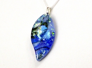 Dichroic Fused Glass Jewelry molten pendant