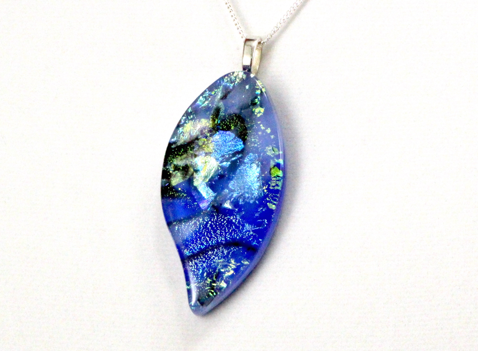 creations hand dichroic pendant glass fused custom crafted pendants made in by