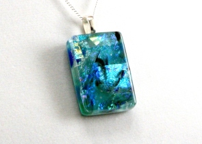 Molten Pendants - Dichroic Fused Glass Jewelry