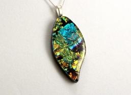 Molten Pendants - Dichroic Fused Glass Jewelry