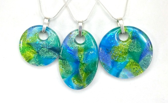 watercolour pendants - Dichroic Fused Glass Jewelry