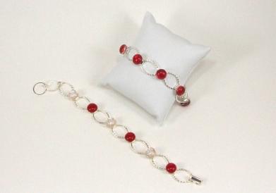 Link Bracelets - Dichroic Fused Glass Jewelry