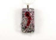Nested Pendants - Dichroic Fused Glass Jewelry